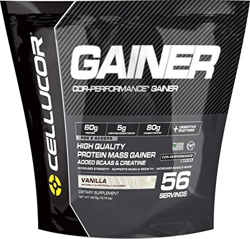 Cellucor, COR-Performance Mass Gainer Protein Powder, Vanilla, 56 Servings