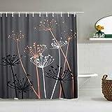 N\A Duschvorhang Distel Schöne Blumen Design wasserdichte Bad Gardinen Haken enthalten - Badezimmer dekorative Ideen Polyester Stoff Zubehör