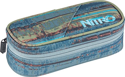Nitro Pencil Case, Federmäppchen, Schlampermäppchen, Faulenzer Box, Federmappe, Stifte Etui, Freq.Blue