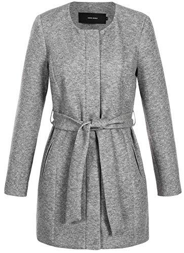 VERO MODA Damen Mantel 3/4 Jacket Julia Verodona 10211535 Light Grey Melange S