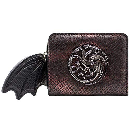 House Targaryen Game of Thrones Draak Vleugel Ritssluiting Portemonnee Rood