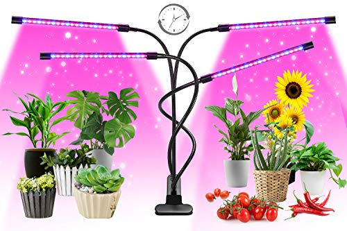 Grow Light, FURANDE Full Spectrum Plant Grow Lights for Indoor Plants, Adjustable Gooseneck AUTO...