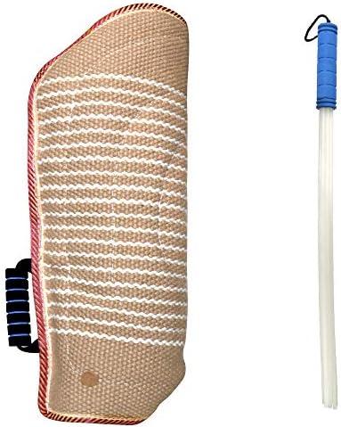 MelkTemn Professional Dog Bite Training Set Dog Bite Arm Sleeve with Whip Agitation Stick for product image