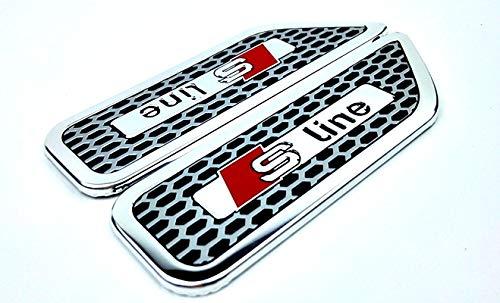 Wooya 2Stücke Waben Fender Modifizierte Aluminiumlegierung Ist Etikettierung Geeignet Für BMW Volkswagen Mitsubishi-D