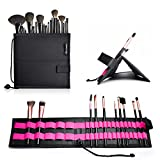 Beauty Logic Professional Makeup Brush Easel Organizer Holds Up to 20 Brushes or More and Converts to A Display Stand for Easy Access, Black 8 inches x 8 inches