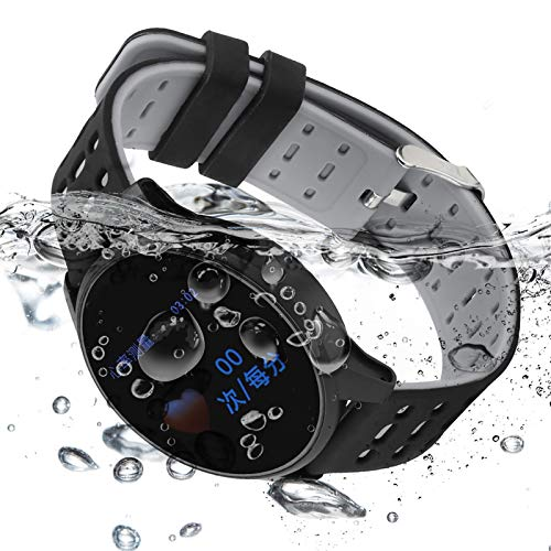 Da Dini Watch & Fitness Tracker Watch Tlwb2 Impermeable Tarifa Cardíaca Pulsera Inteligente Silicone Watchband Smartwatch (Negro)