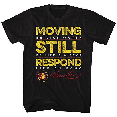 American Classics Bruce Lee Martial artist Moving Be Water respond Like Echo Adult T-Shirt 4X