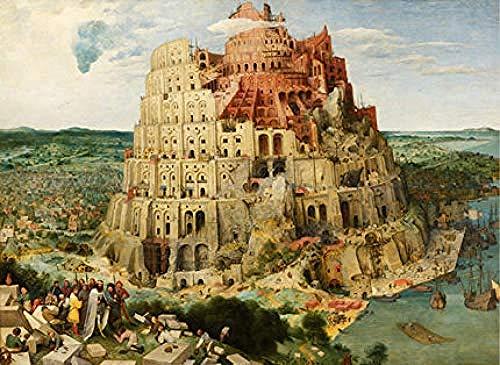 AIKJ Puzzle de 1000 Piezas de Rompecabezas de Madera Peter Brueghel Babel