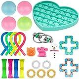 YZHM Fidget Toys Set, 24pcs Sensory Toys Alivia el estrés y la ansiedad Fidget Toy, el Paquete Juguetes de Terapia Especial para niños Adultos