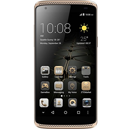 "ZTE Axon Mini - Smartphone Libre de 5,2"" (Dual SIM, Memoria Interna de 32GB, 4G, Android 5.1 Lollipop), Color Oro"
