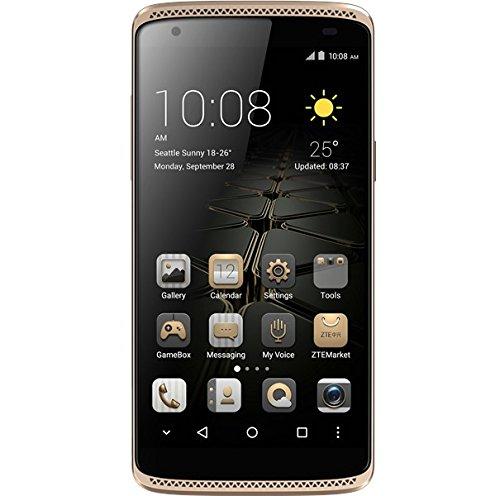 """ZTE Axon Mini - Smartphone Libre de 5,2\"""" (Dual SIM, Memoria Interna de 32GB, 4G, Android 5.1 Lollipop), Color Oro"""