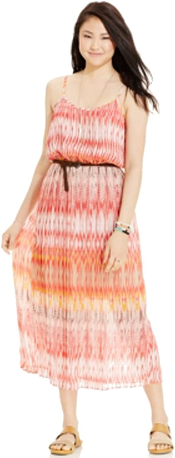 American Rag Juniors Pleated Print Maxi Dress