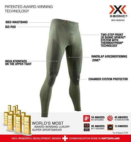 X-Bionic Combat Energizer 4.0 Pants Pantalon Militaire Homme Femme Mixte Adulte, Olive Green/Anthracite, FR : M (Taille Fabricant : M)