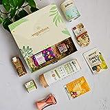 Vegan Box HighlightBox Classic, Überraschungsbox, Geschenkbox, vegane Lebensmittel, vegane Kosmetik, mit mind. 9 Produkten