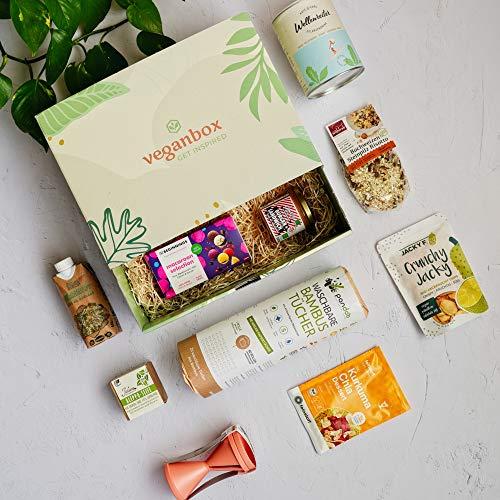 Vegan Box Classic, Überraschungsbox, Geschenkbox, vegane Lebensmittel, vegane Kosmetik, mit mind. 9 Produkten