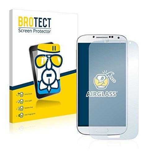 BROTECT Panzerglas Schutzfolie kompatibel mit Samsung Galaxy S4 Value Edition I9515 - AirGlass, 9H Härte, Anti-Fingerprint, HD-Clear
