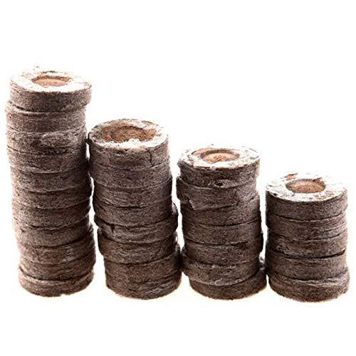 Fauge 100 StüCk Professionelle Torf Pellets Pflanze Start Boden Block Jiffy S?Mling Plugs Umwelt Garten Baum Schule