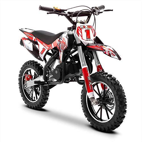 Funbikes MXR Red Kids Dirt Bike – 50cc Petrol Motorbike Moto Cross...