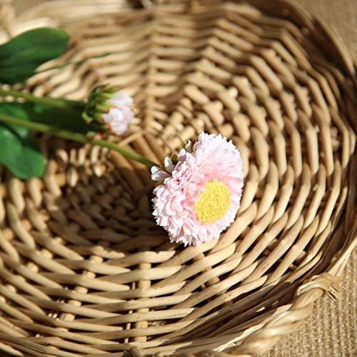 XCVB kunstbloem bodembedekker chrysant bonsai, chrysant vaste plant bonsai bloem plant daisy ingemaakte tuin, roze