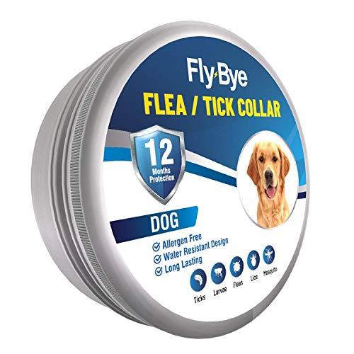 Fly-Bye - Collar de pulgas para Perros - 12 Meses de protección contra pulgas para Perros