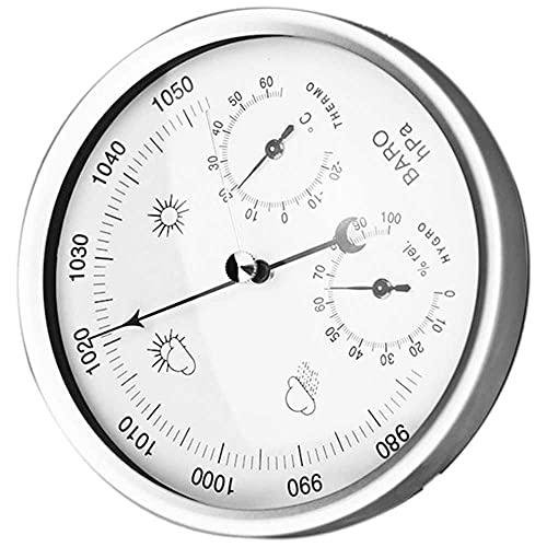 BEKwe Higrómetro barómetro termómetro de Pared 3 en 1