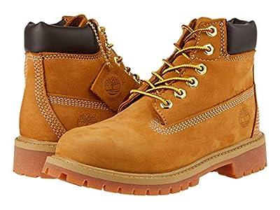 Timberland Kids 6 Premium Waterproof Boot Core (Little Kid) (Wheat Nubuck) Boys Shoes