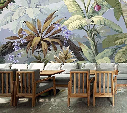 behang tropische regenwoud weegbree behang tv achtergrond behang slaapkamer bank bed & breakfast plant 120 x 100 cm.