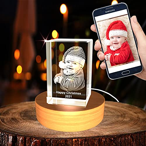 Personalized Custom 3D Holographic Photo Etched Engraved Inside The...