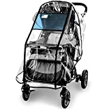 Stroller Rain Cover,Universal Stroller Accessory,Waterproof, Windproof Protection,Protect from Dust Snow,Baby Travel Weather Shield(Long Zipper)