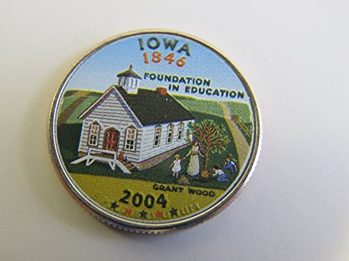 2004 Various Mint Marks Iowa State Colorized Quarter Choice Uncirculated