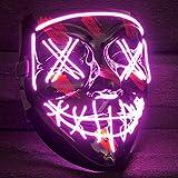 Balinco LED Purge Maske mit 3 Blitzmodi - perfekt geeignet als Techno DJ | Halloween | Karneval |...
