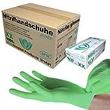 SFM ® GREENLETS Nitril : XS, S, M, L, XL grün puderfrei F-tex Einweghandschuhe Einmalhandschuhe...