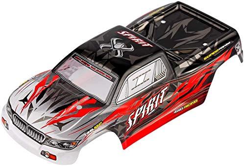 Hosim Karosserie 30-SJ01 für Ferngesteuertes Auto 9130 9135 9137 9138, Ersatzteil für RC Monstertruck (Rot)