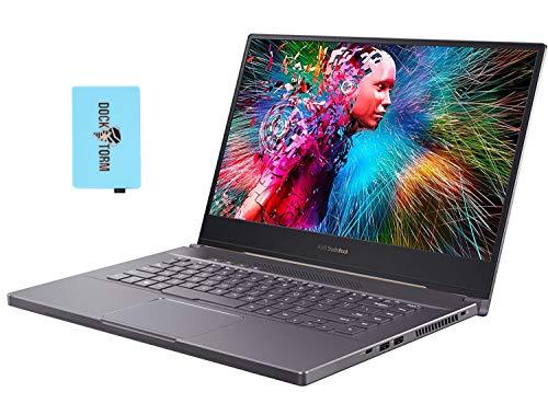 ASUS ProArt StudioBook 15 H500GV Home and Business Laptop (Intel i7-9750H 6-Core, 32GB RAM, 2x1TB PCIe SSD RAID 0 (2TB), NVIDIA RTX 2060, 15.6' 4K UHD (3840x2160), WiFi, Win 10 Pro) with Hub