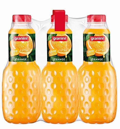 granini Trinkgenuss Orangensaft, 6er Pack (6 x 1 l) Flasche