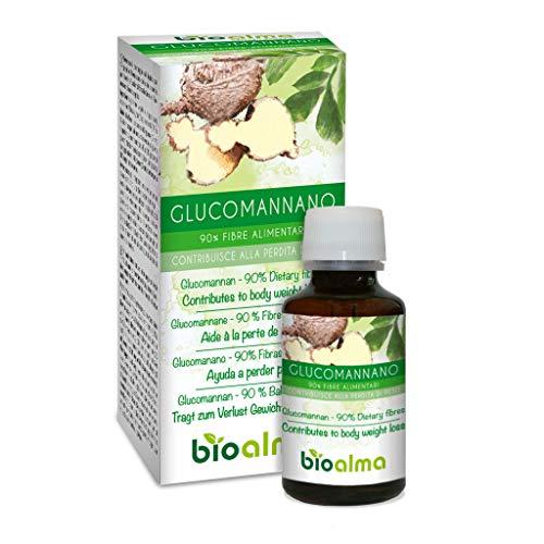 GLUCOMANANO (Amorphophallus konjac) raíces NATURALMA | 90% Fibras alimentarias | 120 cápsulas de 500 mg | Ayuda a perder peso | Complemento alimenticio con extracto titulado y concentrado | Ve