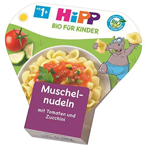 HiPP Muschelnudeln mit Tomaten und Zucchini Bio, 6er Pack (6 x 250 g)