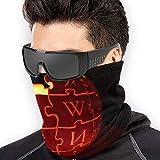 Bandana per Rave Face Dust Wind Protezione solare UV Protezione del collo Ghetta Tubo Copricapo per uomo Donna - Wikipedia Logo Jack O 'Lantern
