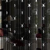 Cortina con tiras de abalorios para puerta, de Moresave, tela, negro, 200cm x 100cm