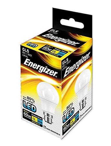 Energizer BC B22 GLS 9W Ampoule LED traditionnel 60 W 806 Lumens Blanc chaleureux, Single Pack, B22d (Bayonet Cap)