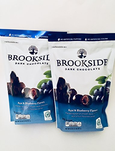 Brookside Dark Chocolate Acai and Blueberry Flavors Candy, 32-Ounce Bag (Pack of 2)