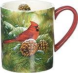 Lang December Dawn Cardinal Mug by Rosemary Millette, 14 oz, Multicolored