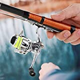 Fournyaa Mini Carrete de Pesca, Carrete de Pesca Liso, 4.3: 1 para caña de Pescar de río caña de Pescar en el mar