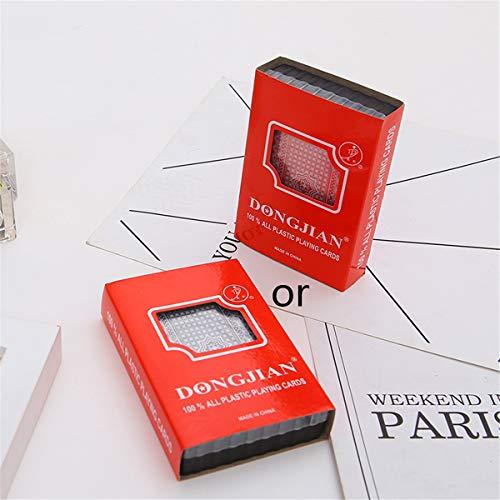 CAFFAINA Hochwertige wasserdichte PVC-Kunststoff-Spielkarten mit Plastikbox 54pcs Deck Poker Klassische Zaubertricks