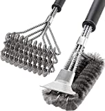 SHINESTAR 2 Pcs BBQ Grill Brush, 18inch Grill Brush and Scraper for Porcelain, Cast Iron, Stainless...