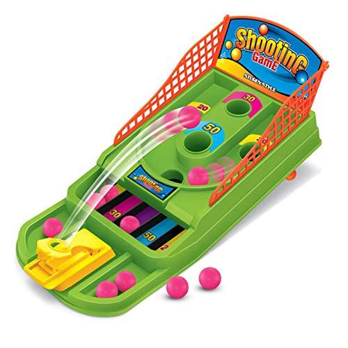 Basketball-Schießspielzeug, pädagogisches Mini-Korb Ball Finger Schießen Spielzeug Set Lustige Pinball Interaktives Tisch-Brettspiel für Kinder Familie