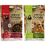Variety Rachael Ray Nutrish Soup Bones Dog Treats Real Beef & Barley and Chicken & Veggies - Each Pack 6.3 oz/ 3 Chew Treats by Rachael Ray