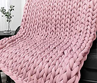 pink braided blanket
