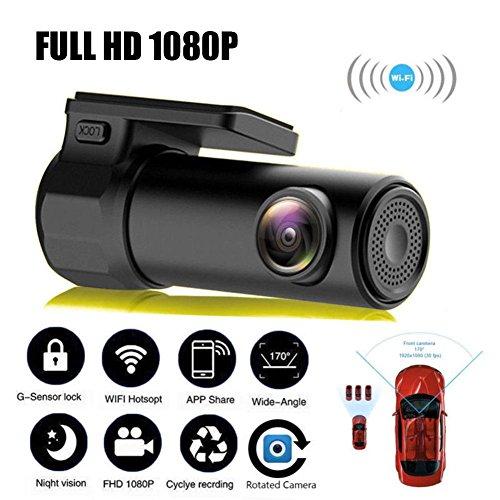 Minicámara FHD con WiFi ZHUOTOP, con detección de movimiento, cámara DVR de vídeo, grabadora, queda oculta, para el salpicadero del coche