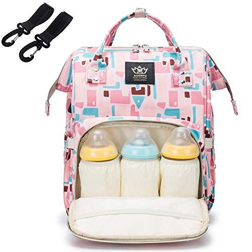 ZYUPHY Mochila Bebe Mochila Maternidad Travel Back Pack Multifunción Oxford Bolso Waterproof Large Capacity Mochila Carrito Bebe con Correas Cochecito